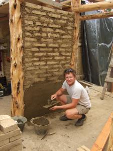 De constructie van een mest muur
