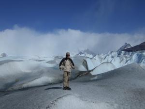 De smeltende gletcher Perito Moreno in Argentinië